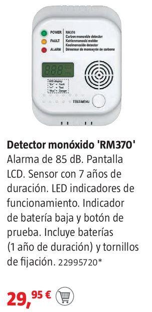 Oferta de Detector de monóxido RM370 por 29,95€