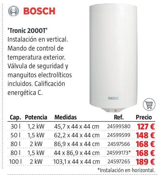 Oferta de Termo eléctrico Bosch por 127€