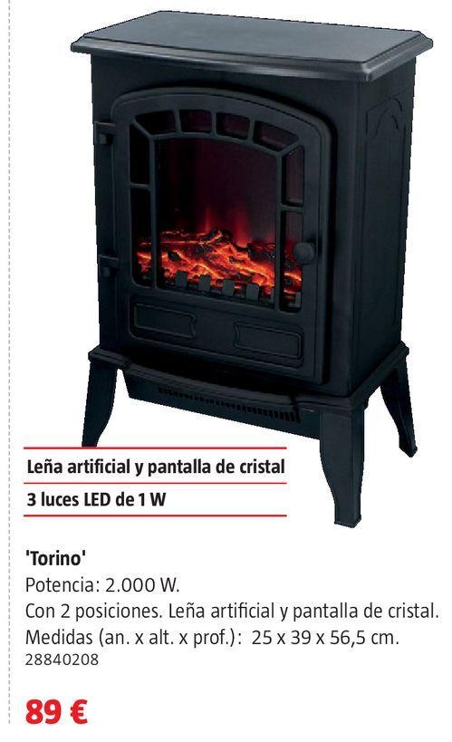 Oferta de Chimenea eléctrica por 89€