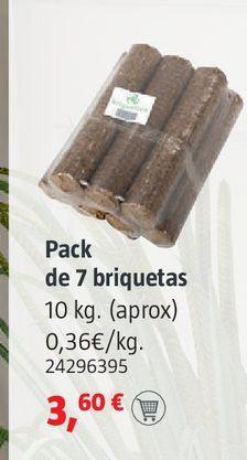 Oferta de Pack de 7 briquetas por 3,6€