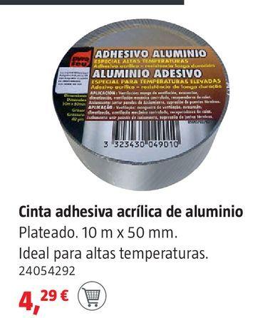 Oferta de Cinta adhesiva acrílica de aluminio por 4,29€