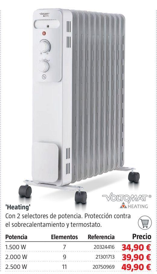 Oferta de Radiador de aceite Heating por 34,9€