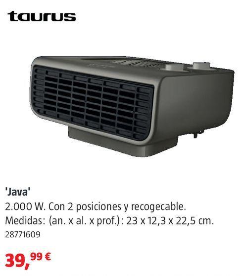 Oferta de Calefactor Taurus por 39,99€