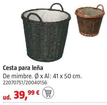 Oferta de Cesta para leña por 39,99€