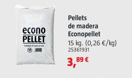 Oferta de Pellets de madera econopellet por 3,89€