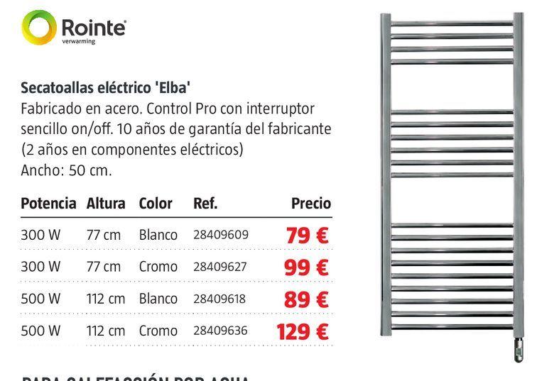 Oferta de Secatoallas eléctrico por 79€