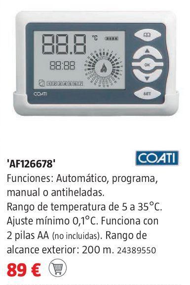 Oferta de Cronotermostato digital coati por 89€