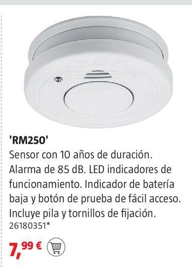 Oferta de Detector de humos por 7,99€