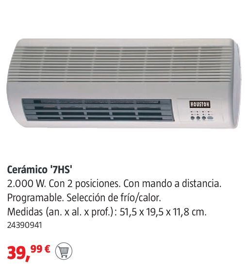 Oferta de Calefactor split por 39,99€