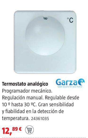 Oferta de Termostato analógico Garza por 12,89€