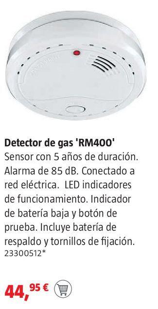 Oferta de Detector de gas  por 44,95€