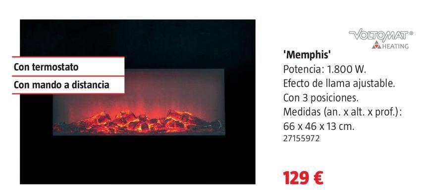 Oferta de Chimenea eléctrica por 129€