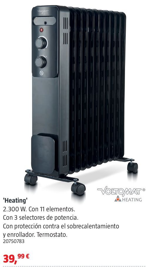 Oferta de Radiador de aceite Heating por 39,99€