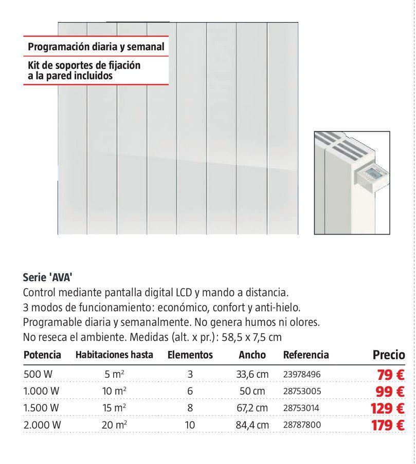 Oferta de Radiador de aceite serie Ava por 79€