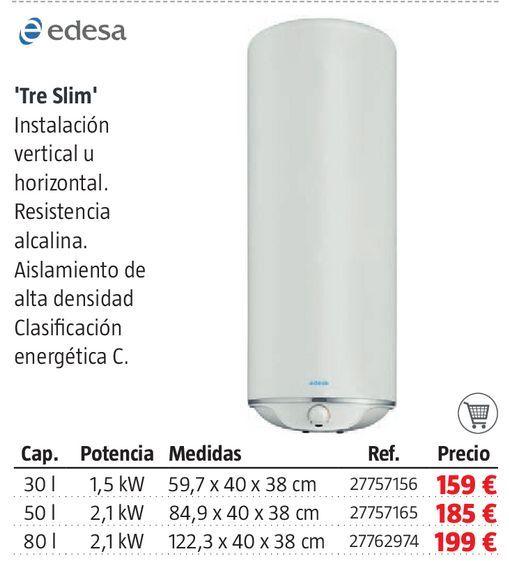 Oferta de Termo eléctrico Edesa por 159€