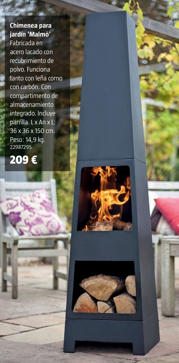 Oferta de Chimenea para jardín por 209€