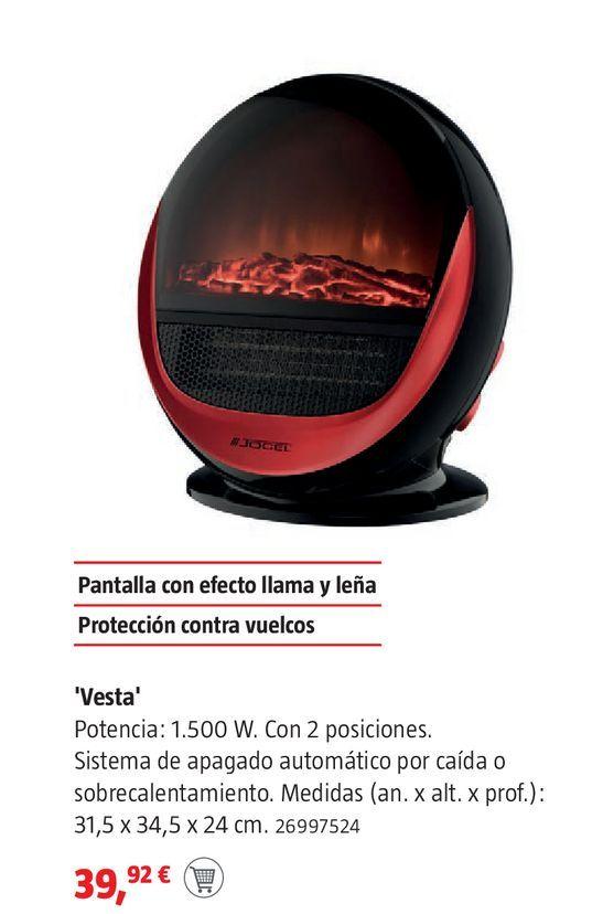 Oferta de Chimenea eléctrica Jocel por 39,92€