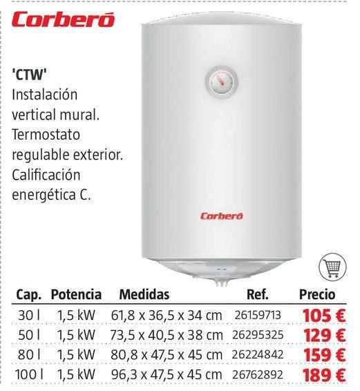 Oferta de Termo eléctrico Corberó por 105€