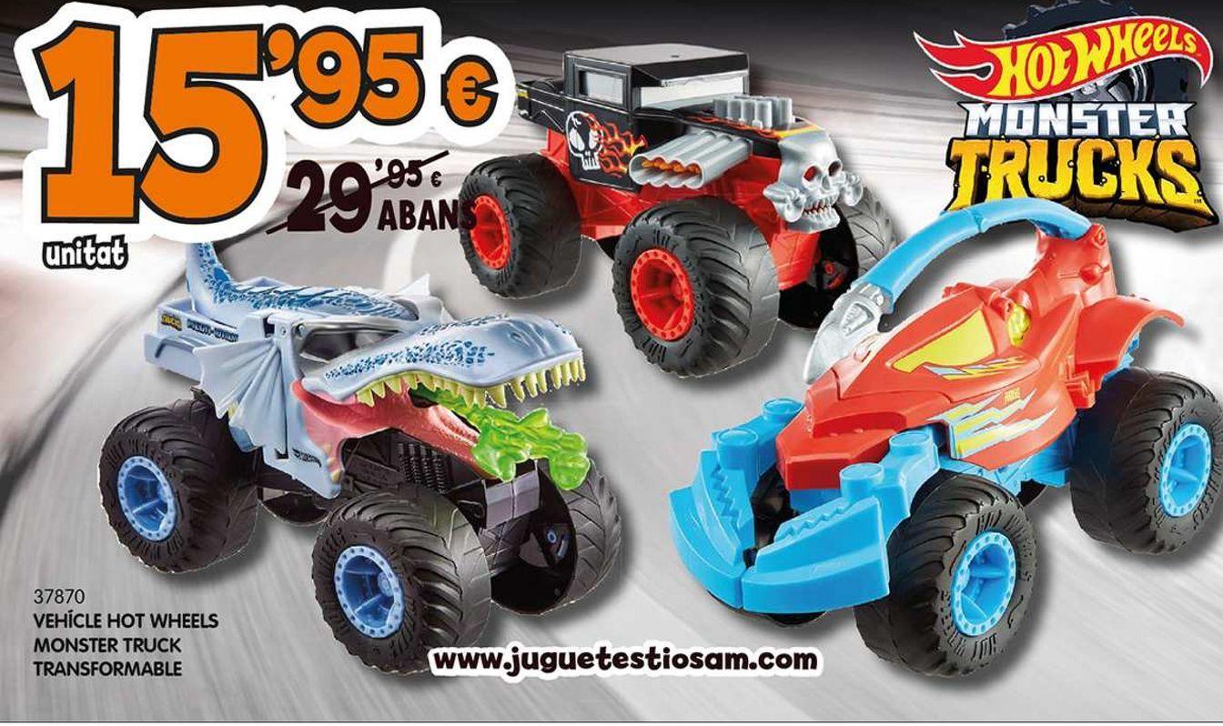 Oferta de Vehícle hoy wheels monster truck transformable por 15,95€