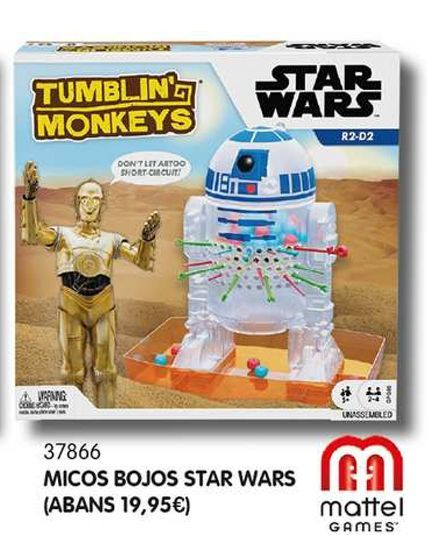 Oferta de Micos bojos star wars por 10€