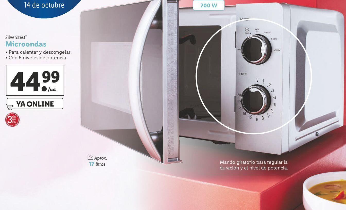 Oferta de Microondas SilverCrest por 44,99€