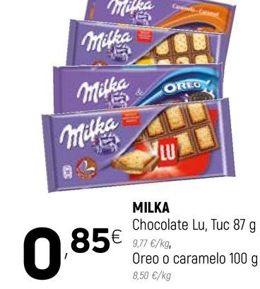 Oferta de Chocolate Milka por 0,85€