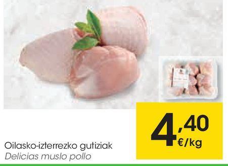 Oferta de Delicias muslo pollo por 4,4€