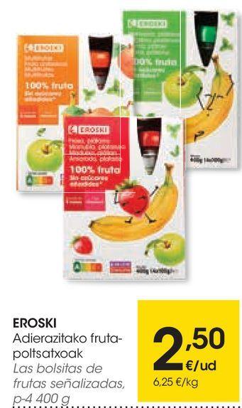 Oferta de Las bolitas de frutas señalizadas por 2,5€