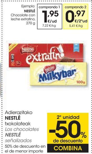 Oferta de Chocolate con leche extrafino por 1,95€