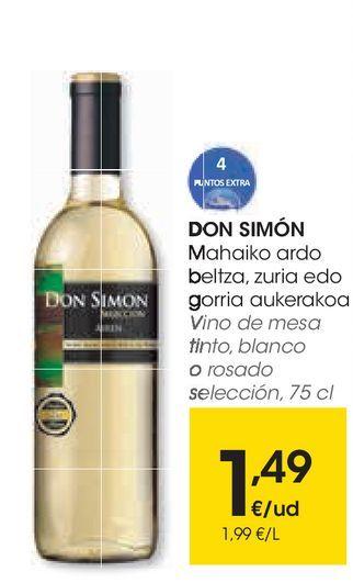 Oferta de Vino de mesa tinto, blanco o rosado por 1,49€