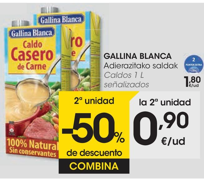 Oferta de Caldos 1L señalizados por 1,8€