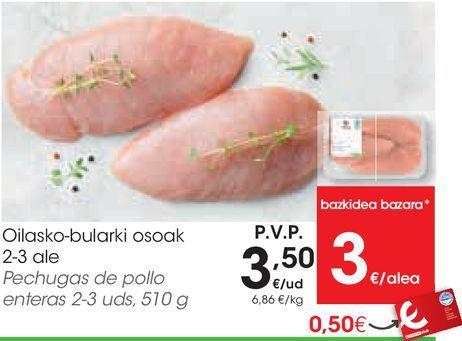 Oferta de Pechuga de pollo por 3,5€