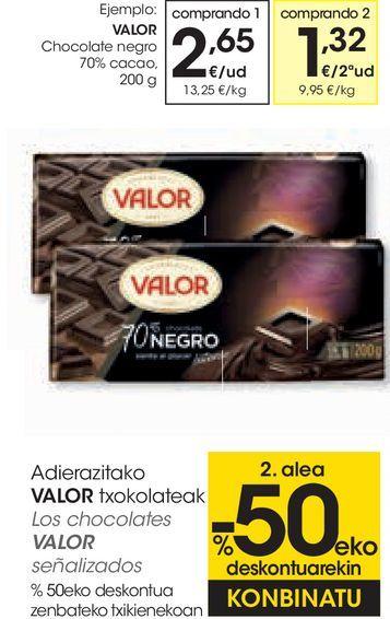 Oferta de Chocolate negro Valor por 2,65€
