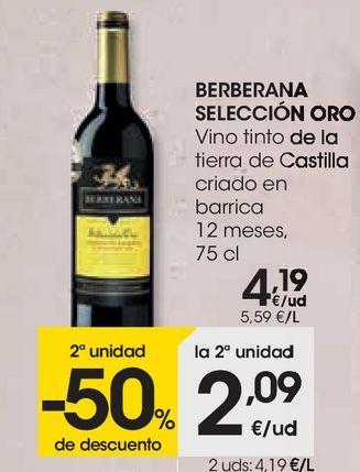 Oferta de Vino tinto de la tierra de castilla Berberana por 4,19€