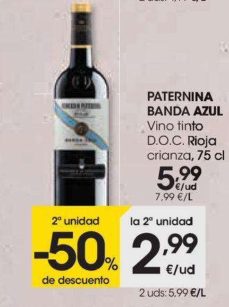Oferta de Vino tinto Paternina por 5,99€