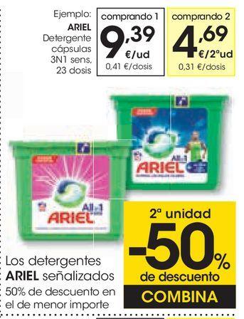 Oferta de Detergente en cápsulas Ariel por 9,39€