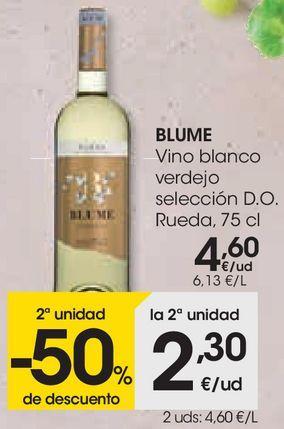 Oferta de Vino blanco verdejo Blume por 4,6€