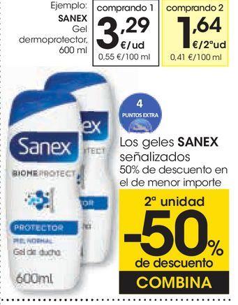 Oferta de Gel dermoprotector Sanex por 3,29€