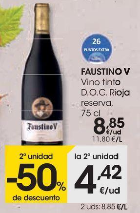 Oferta de Vino tinto Faustino V por 8,85€
