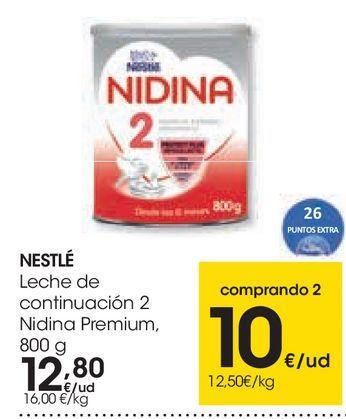 Oferta de Leche de continuación 2 Nidina por 12,8€