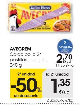 Oferta de Caldo de pollo 24 pastillas + regalo Avecrem por 2,7€