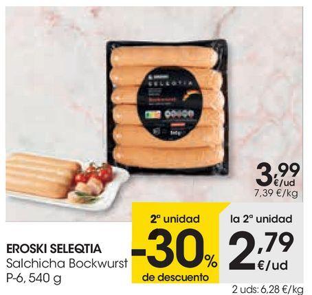 Oferta de Salchicha Bockwurst eroski por 3,99€