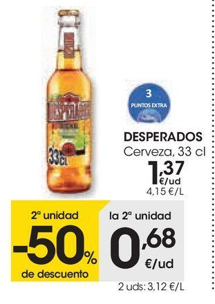 Oferta de Cerveza Desperados por 1,37€