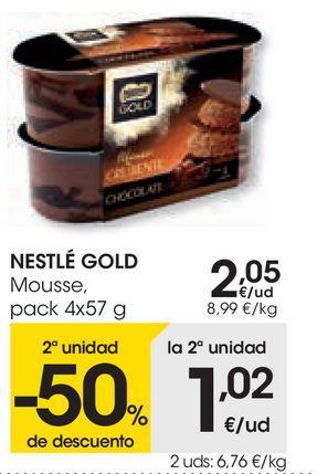 Oferta de Mousse Nestlé por 2,05€