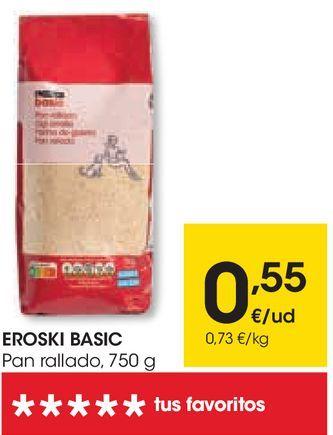 Oferta de Pan rallado eroski por 0,55€