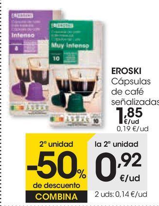 Oferta de Cápsulas de café eroski por 1,85€