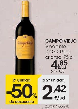 Oferta de Vino tinto Campo Viejo por 4,85€