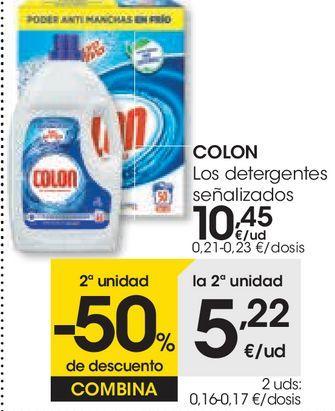 Oferta de Los detergentes señalizados Colon por 10,45€