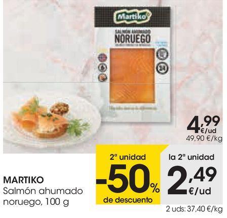Oferta de Salmón ahumado noruego Martiko por 4,99€