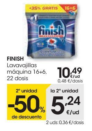 Oferta de Lavavajillas máquina Finish por 10,49€